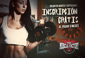 Cupon de descuento para THE MUSCLE FACTORY