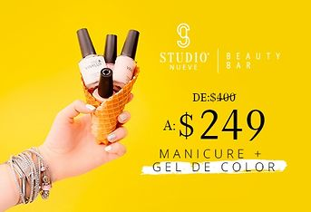 Manicure + gel de color por $249