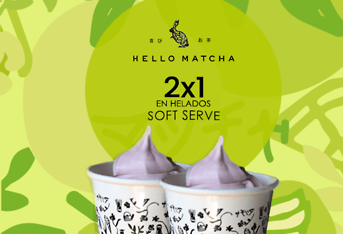 2 x 1 en helados soft serve
