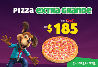 Pizza extragrande de $265 a $185