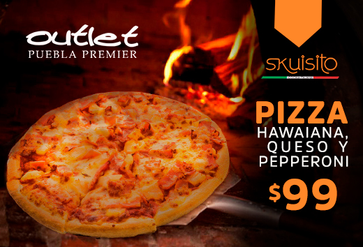 Pizza hawaiana, queso y pepperoni $99