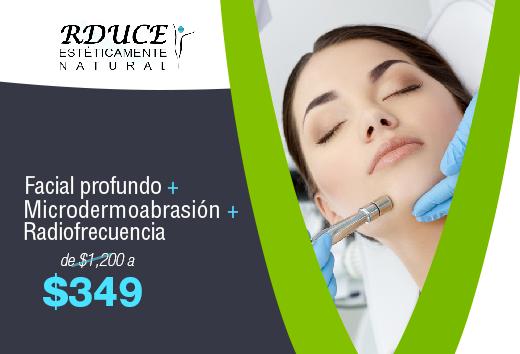 Facial + Microdermoabrasión + Radiofrecuencia $349