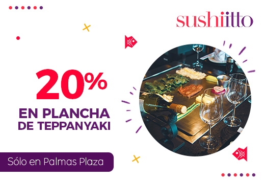20% en Planchas de Teppanyaki