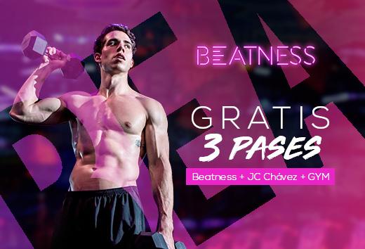 3 pases gratis: Beatness, JC Chávez y gimnasio
