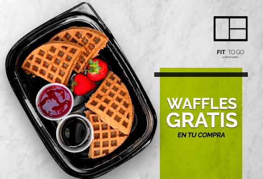 Waffles gratis en tu compra