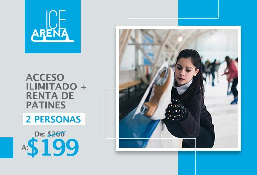Acceso ilimitadocon renta de patines para2 personas $199