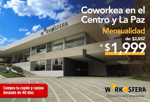 Mensualidad 2 coworkings $1,999