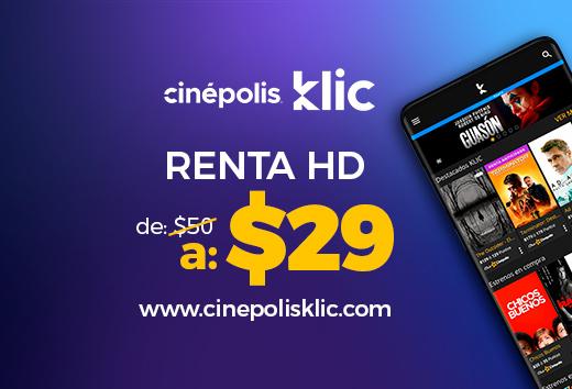 Renta de película HD $29