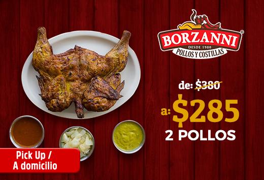 2 pollos por $285