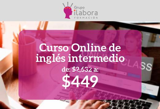 Curso online de inglés intermedio $449