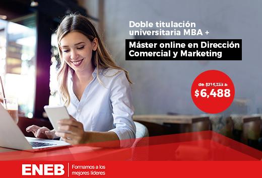97% OFF en MBA + Máster Dirección Comercial y Marketing