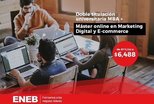 97% OFF en  MBA + Máster Dirección Marketing y E- commerce