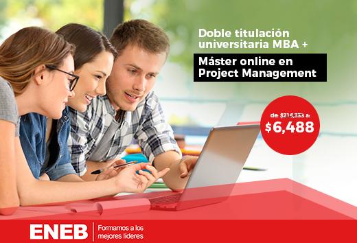 97% OFF en  MBA + Máster Project Management online