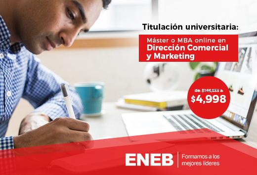 97% de descuento en Dirección comercial y marketing online
