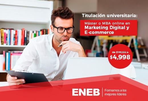 97%  de descuento en Dirección en Marketing y E-commerce