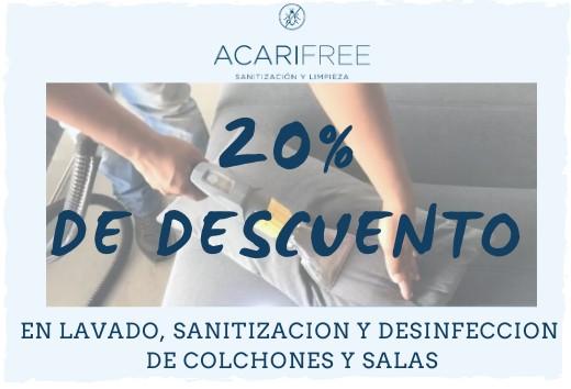 20% en lavado, sanitización y desinfección