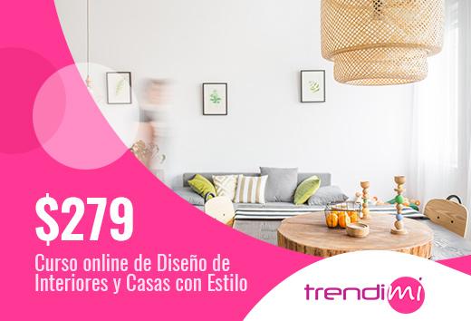 Curso online de diseño de interiores y casas con estilo $279