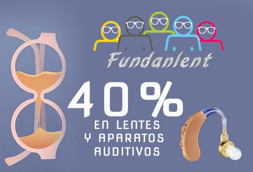 40% en lentes y en aparatos auditivos