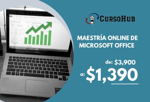 Maestríaonline de Microsoft Office $1,390