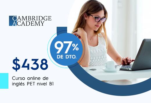 Curso online de preparación PET nivel B1 $438