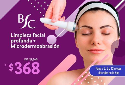 Limpieza facial profunda + microdermoabrasión $368
