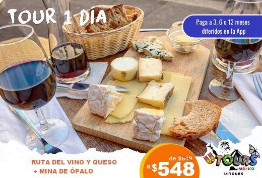 Ruta del vino y queso + minas de ópalo $548
