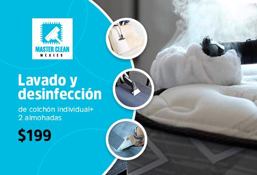 Lavado de colchón individual +2 almohadas $199