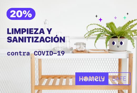 20% en limpieza y desinfección contra COVID-19