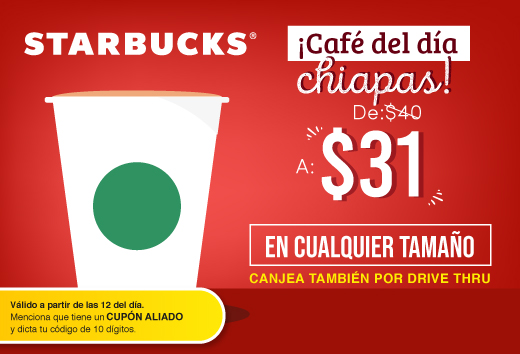 Café del día Chiapas $31