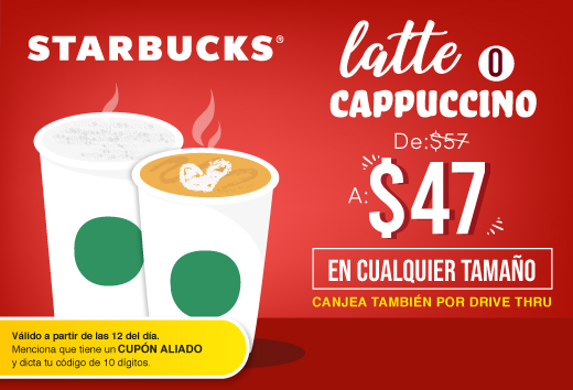 Latte o cappuccino $47