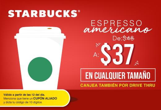Espresso americano $37