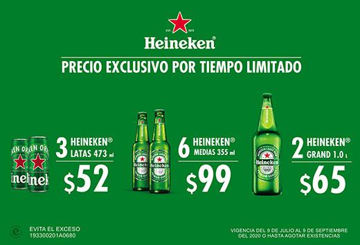 Heineken a precio especial