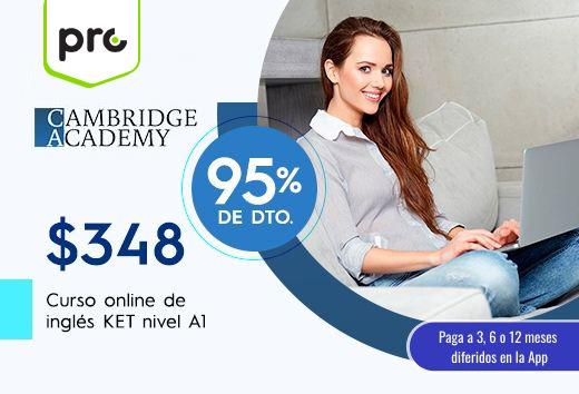 Curso online de preparaciónKET nivel A1$348