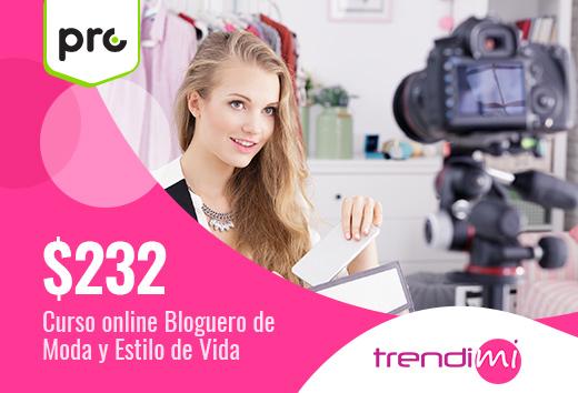 Curso onlinebloguero de moda y estilo de vida$232