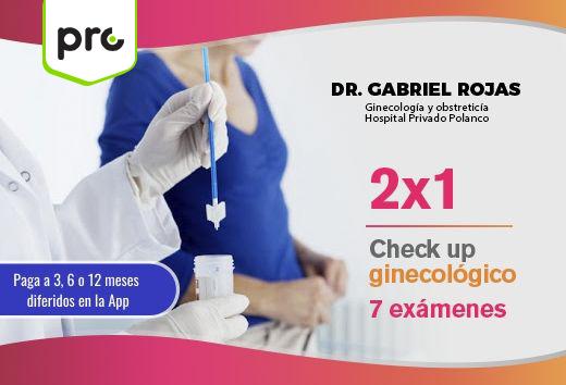 Check up ginecológico 7 exámenes $478