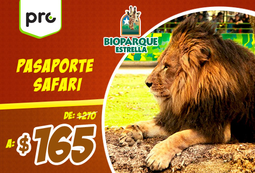 Pasaporte Safari $165