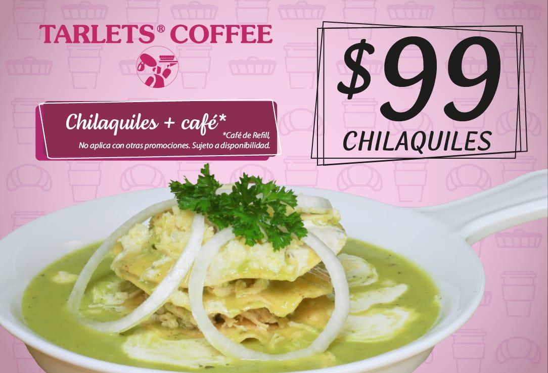 Chilaquiles + café $99