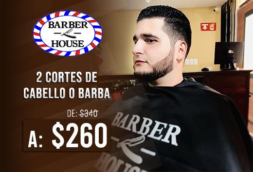 2 cortes de cabello o barba $260