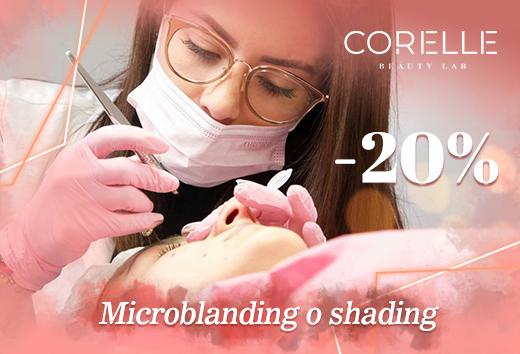 20% de descuento microblanding o shading