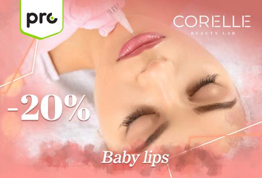20% de descuento en baby lips