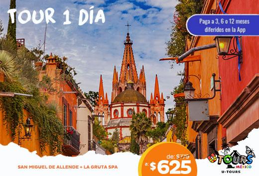 San Miguel de Allende:  gruta spa + restaurante $625