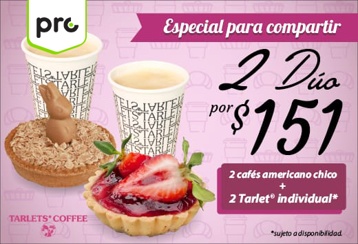 2 cafés + 2 tartas $151