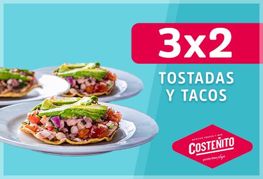 3x2 en tostadas y tacos