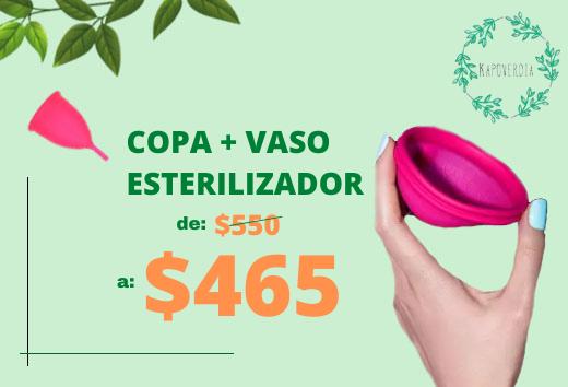 Copa menstrual + vaso esterilizador $465