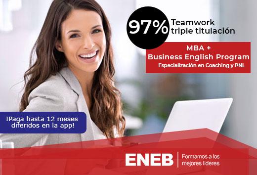 97% en Teamwork MBA: obtén tu triple titulación