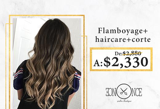 Flamboyage+ haircare+ corte $2,330