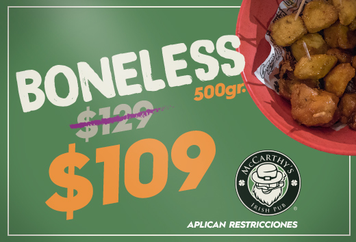 Boneless $109
