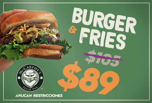 Burger & fries $89