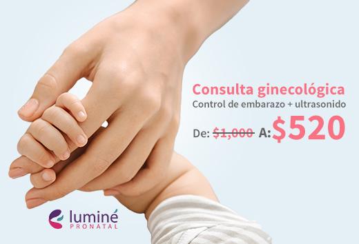 Control de embarazo+ ultrasonido $520