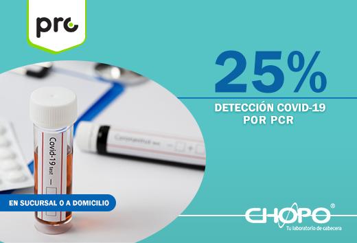 25%detección COVID-19 por PCR